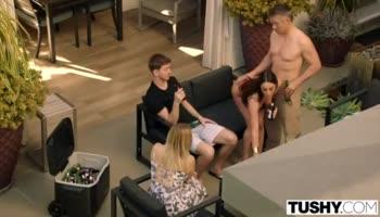 Hot model model showing naked big butt